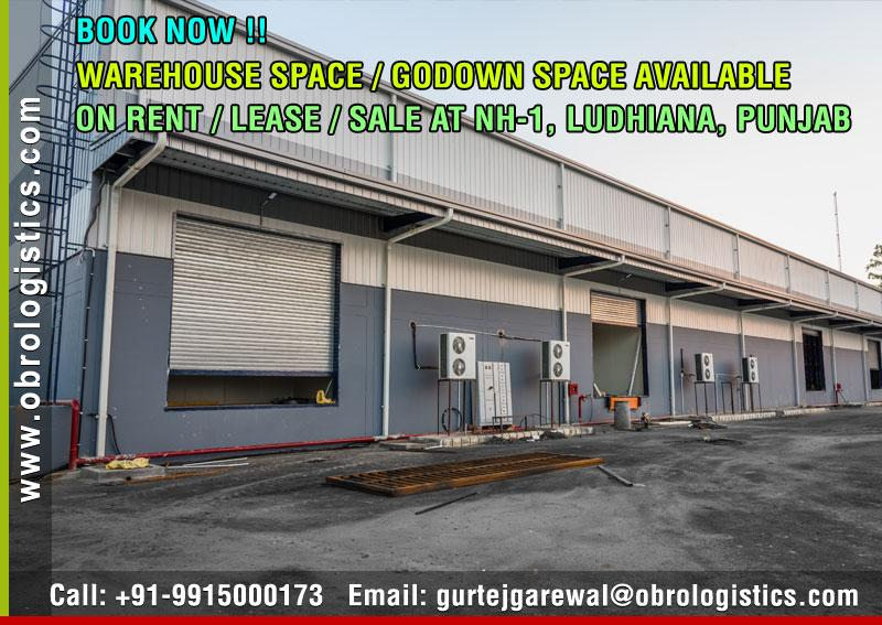 Godown on rent lease in Ludhiana Punjab Mobile 9915000173 http://www.obrologistics.com