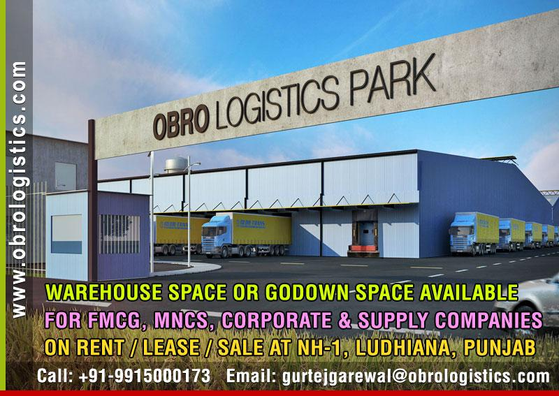 Godown for rent lease in Ludhiana Punjab Mobile 9915000173 http://www.obrologistics.com