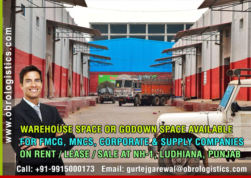 Warehouse for rent lease in Ludhiana Punjab Mobile 9915000173 http://www.obrologistics.com