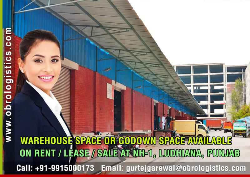 Warehouse space on rent lease in Ludhiana Punjab Mobile 9915000173 http://www.obrologistics.com