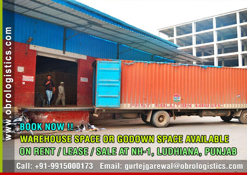 hire godown space on rent lease in ludhiana punjab Mobile 9915000173 http://www.obrologistics.com