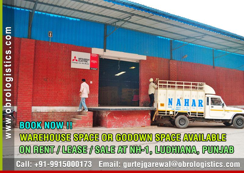 Warehouse on rent lease in Ludhiana Punjab Mobile 9915000173 http://www.obrologistics.com
