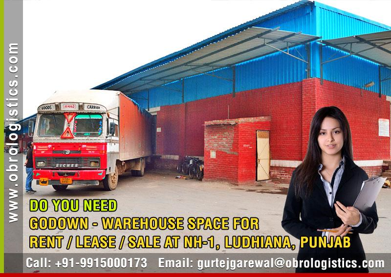 godown space for logistics on rent lease in ludhiana, punjab, india Mobile 9915000173 http://www.obrologistics.com