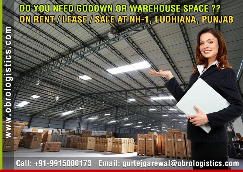 warehouse space for logistics on rent lease in ludhiana punjab Mobile 9915000173 http://www.obrologistics.com