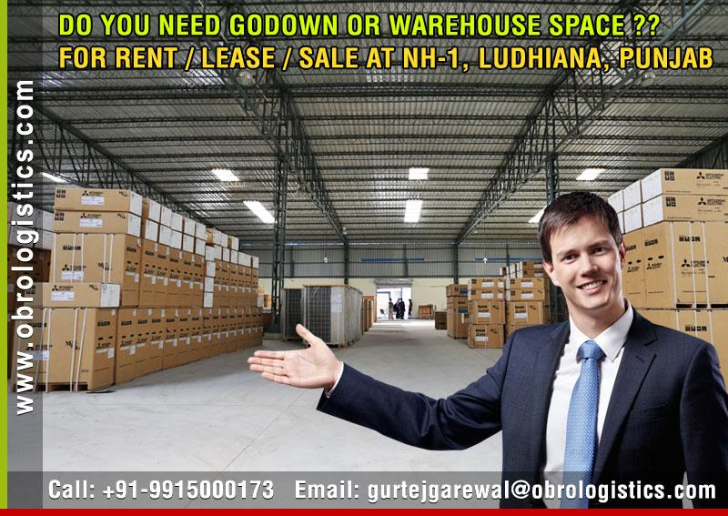 godown on rent lease for companies in ludhiana punjab Mobile 9915000173 http://www.obrologistics.com