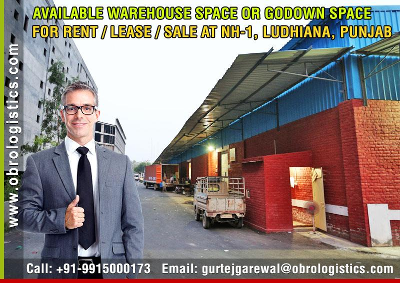 warehouse on rent lease for companies in ludhiana, punjab Mobile 9915000173 http://www.obrologistics.com