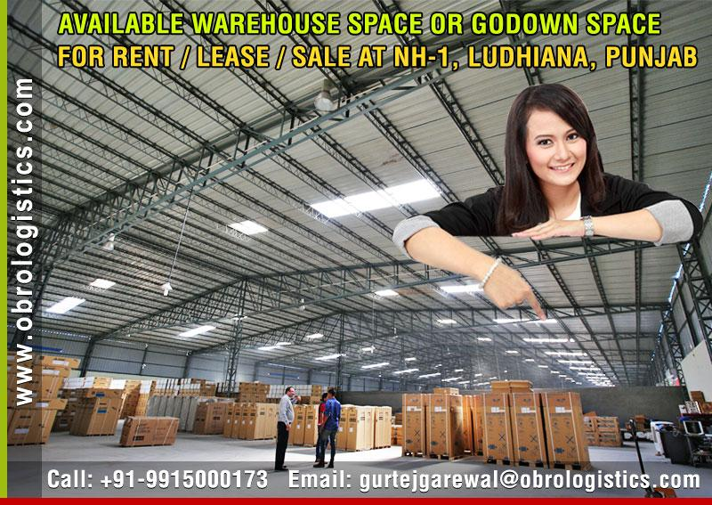 goods storage godown for rent lease in ludhiana, punjab Mobile 9915000173 http://www.obrologistics.com